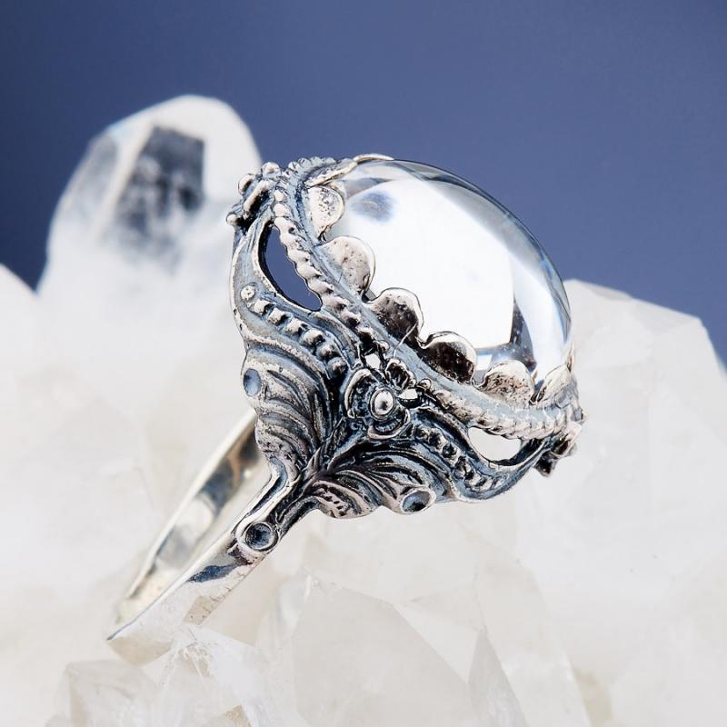[del] Кольцо горный хрусталь Бразилия (серебро 925 пр.)  размер 16