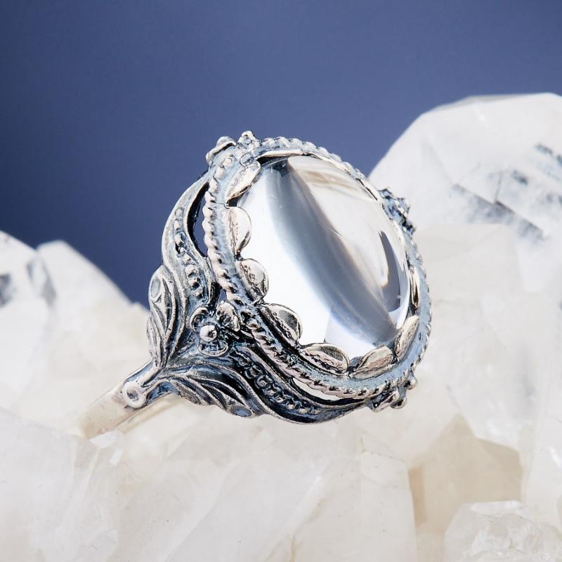 [del] Кольцо горный хрусталь Бразилия (серебро 925 пр.)  размер 18