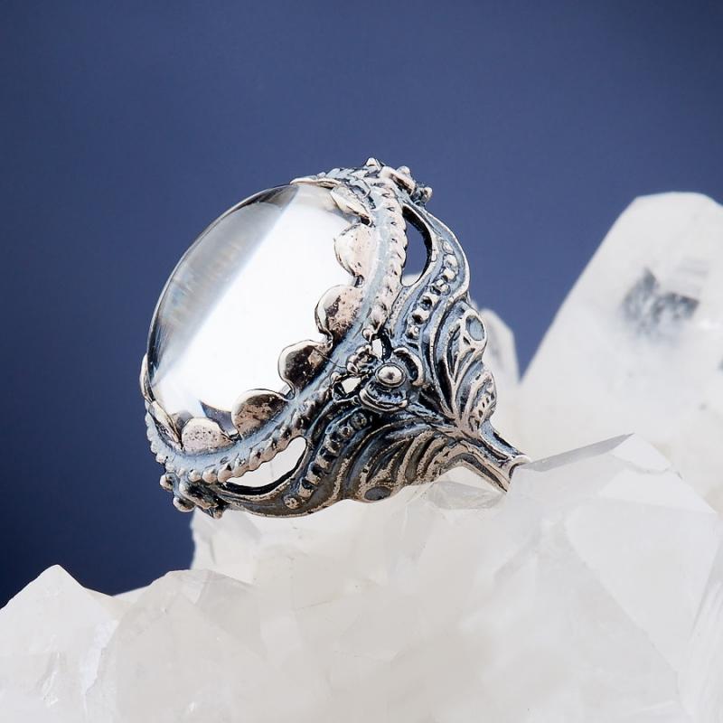 [del] Кольцо горный хрусталь Бразилия (серебро 925 пр.)  размер 19