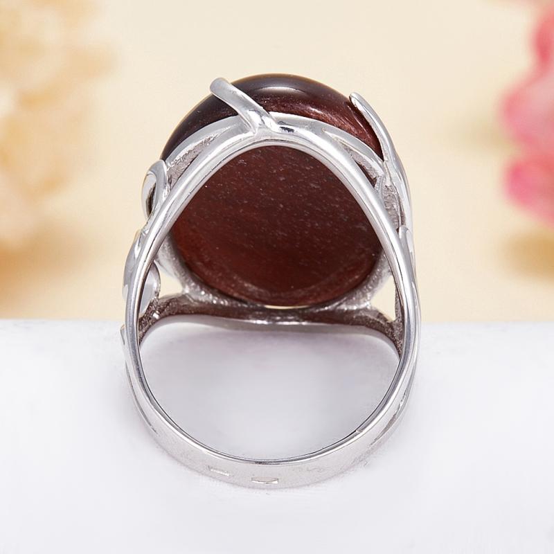 Кольцо бычий глаз ЮАР (серебро 925 пр.) размер 19