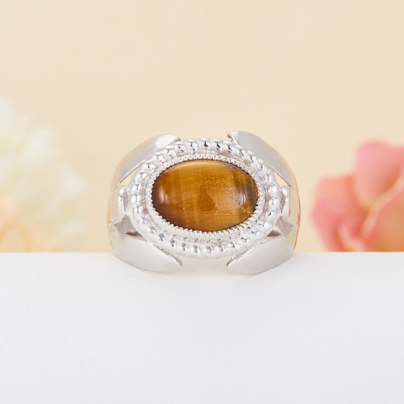 Кольцо тигровый глаз (серебро 925 пр.) размер 21,5