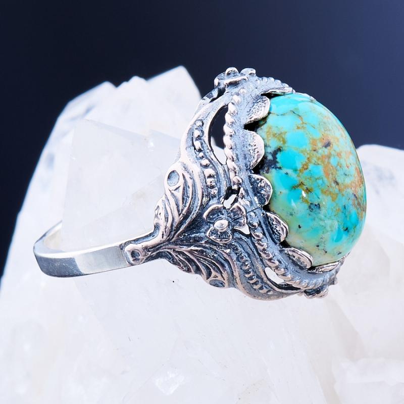 Кольцо бирюза Узбекистан (серебро 925 пр.)  размер 17,5