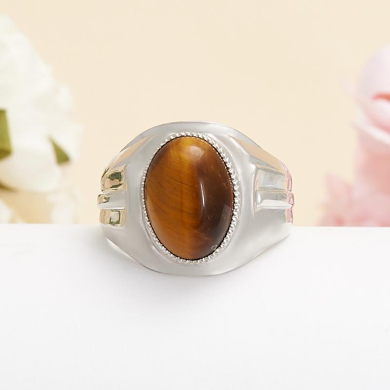 Кольцо тигровый глаз  (серебро 925 пр.) размер 19 кольцо сальвия тигровый глаз