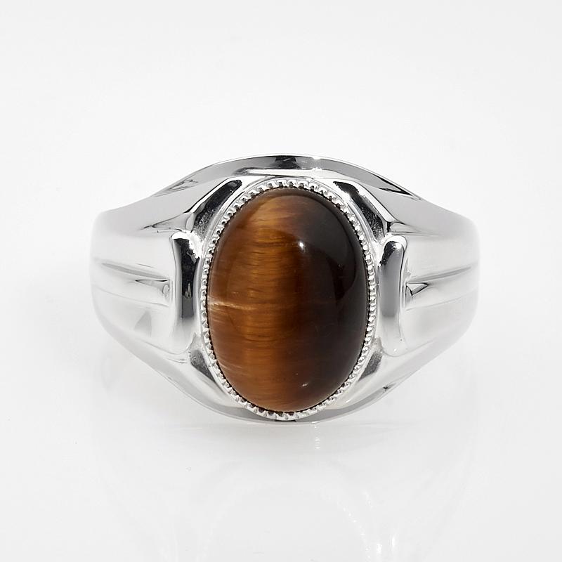 Кольцо тигровый глаз  (серебро 925 пр.) размер 23
