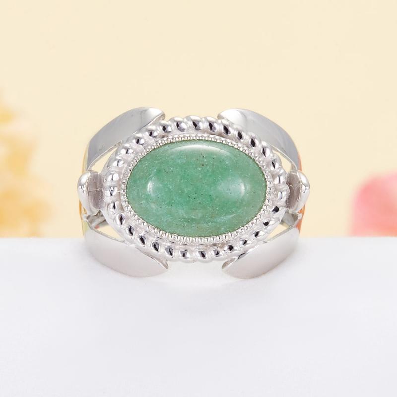 Кольцо авантюрин зеленый  (серебро 925 пр.) размер 20,5 кольцо авантюрин зеленый серебро 925 пр размер 18