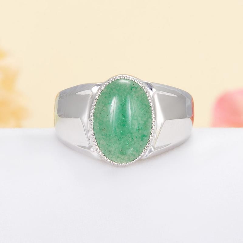 Кольцо авантюрин  (серебро 925 пр.) размер 21 кольцо авантюрин зеленый серебро 925 пр размер 22