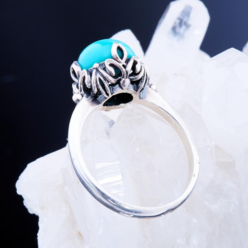 [del] Кольцо бирюза Тибет (серебро 925 пр.)  размер 22