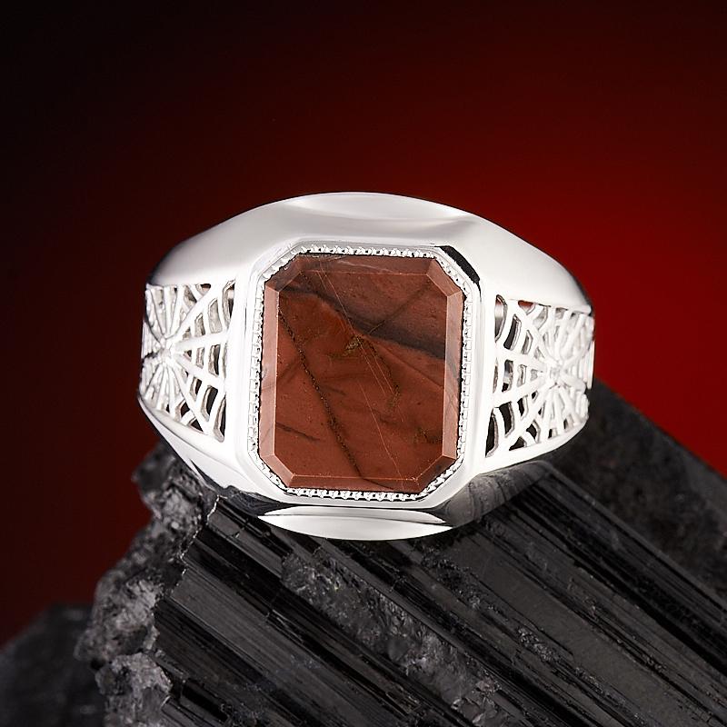 Кольцо яшма брекчиевая  огранка (серебро 925 пр.) размер 21,5