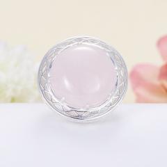 Кольцо розовый кварц Намибия (серебро 925 пр.)  размер 17,5