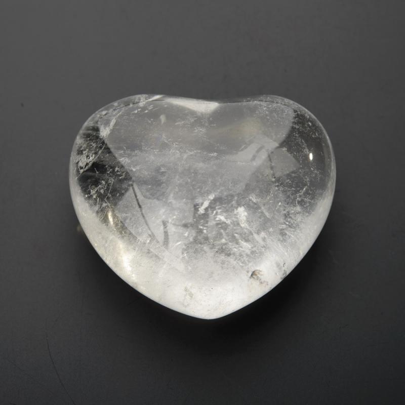Сердечко горный хрусталь 4 см горный хрусталь для очистки воды целитель 350 г