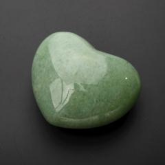Сердечко авантюрин зеленый Зимбабве 4 см
