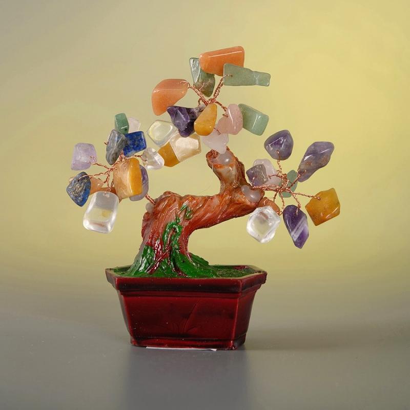 Дерево счастья с камнями 13 см