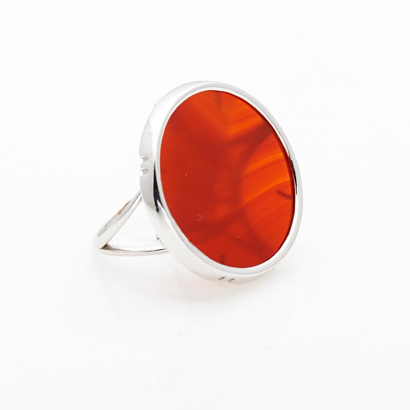 Кольцо сердолик  (серебро 925 пр.)  размер 20