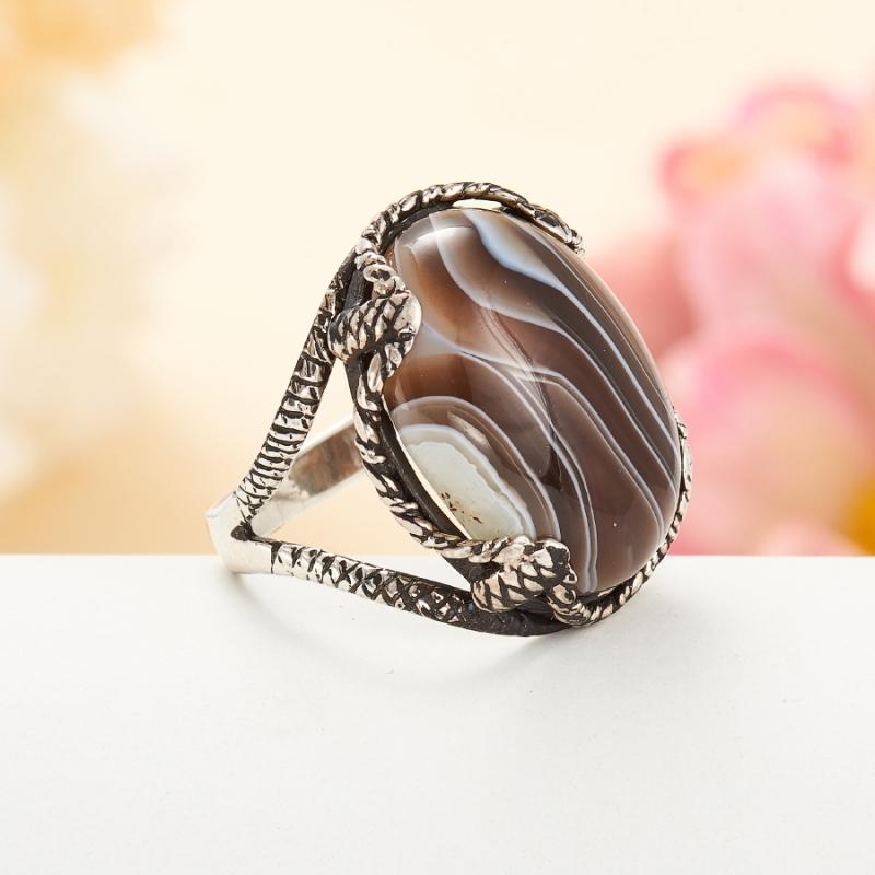[del] Кольцо агат Ботсвана (серебро 925 пр.)  размер 16