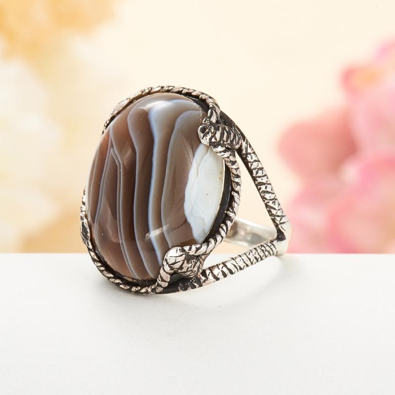 [del] Кольцо агат Ботсвана (серебро 925 пр.)  размер 18,5