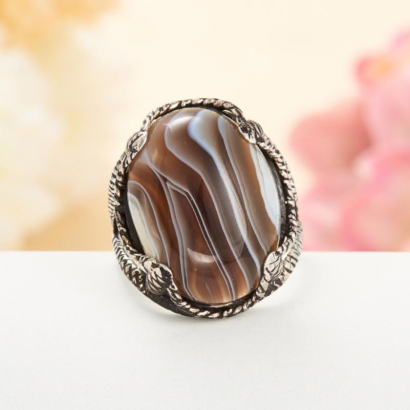 [del] Кольцо агат Ботсвана (серебро 925 пр.)  размер 19,5