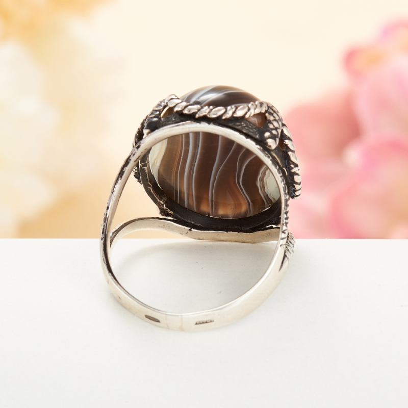 [del] Кольцо агат Ботсвана (серебро 925 пр.)  размер 21