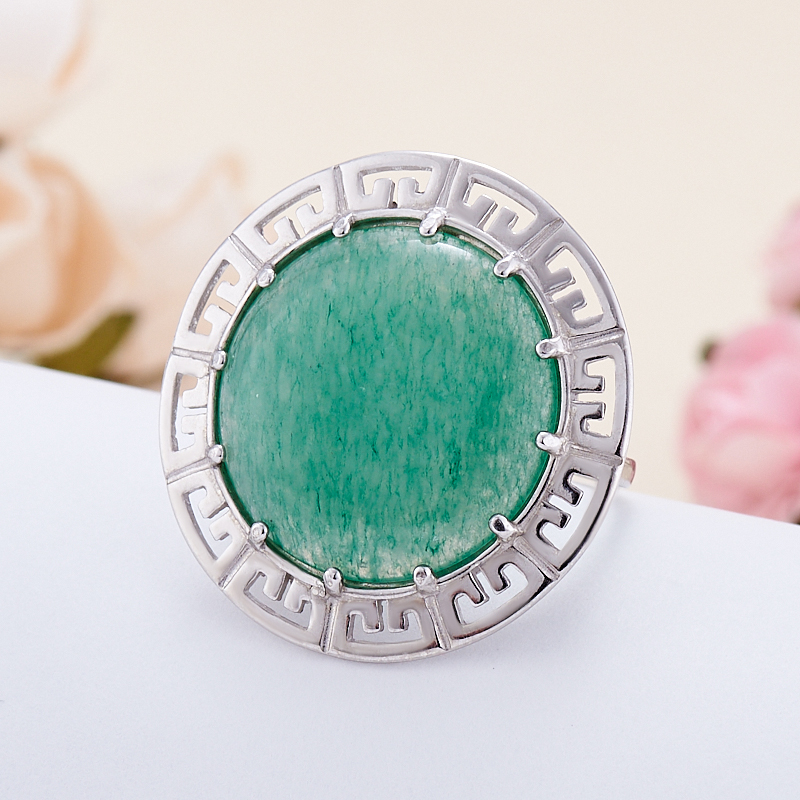 Кольцо авантюрин зеленый  (серебро 925 пр.)  размер 19 кольцо авантюрин зеленый серебро 925 пр размер 18