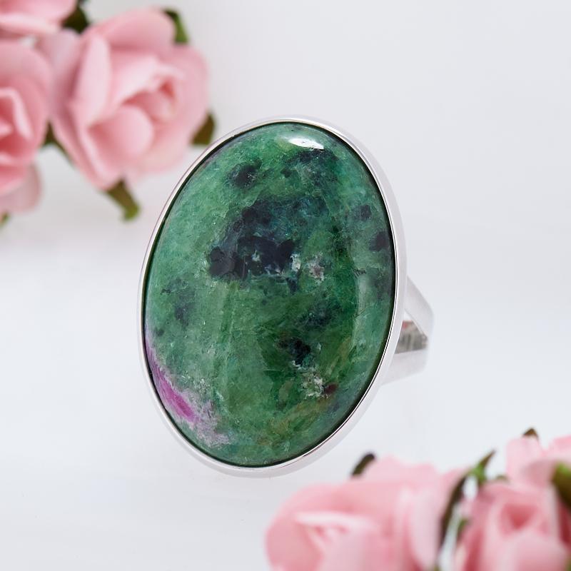 Кольцо цоизит  (серебро 925 пр.) размер 18 кольцо авантюрин зеленый серебро 925 пр размер 18