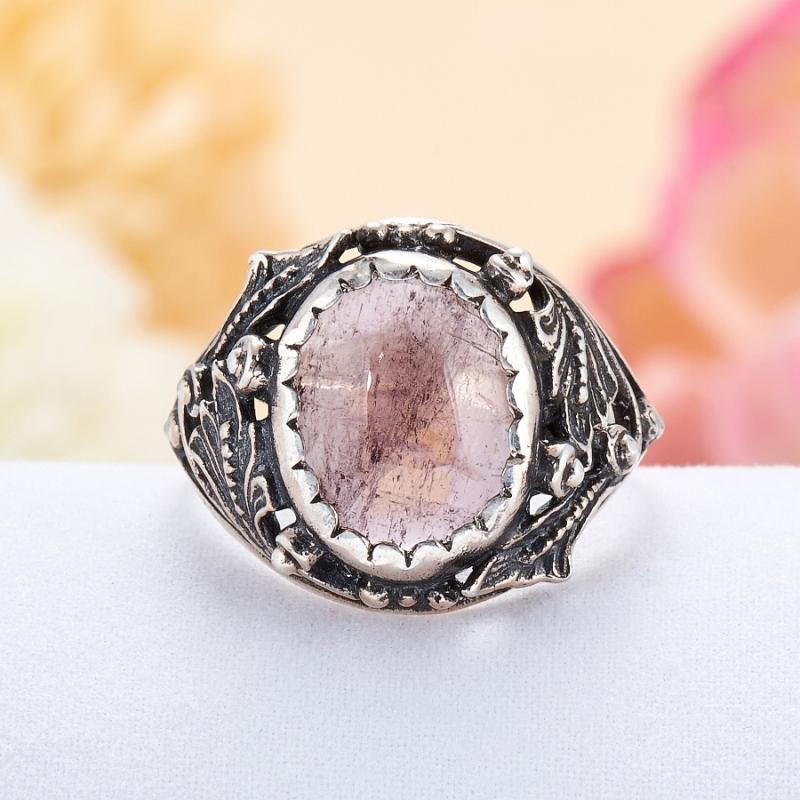 Кольцо турмалин (рубеллит)  (серебро 925 пр.)  размер 18