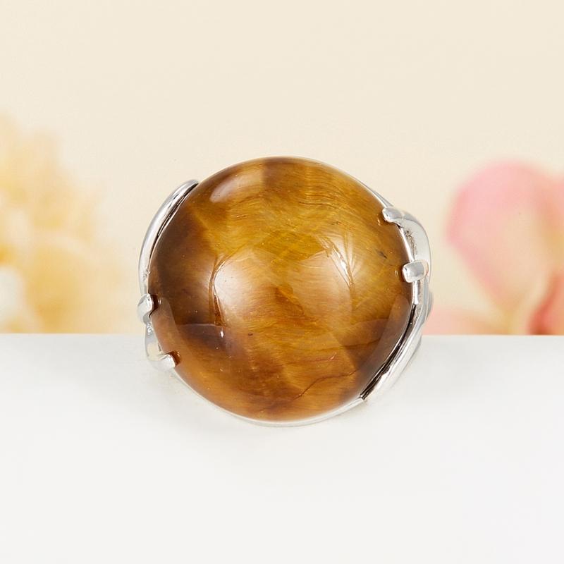 Кольцо тигровый глаз (серебро 925 пр.) размер 17 кольца колечки кольцо лаватера тигровый глаз