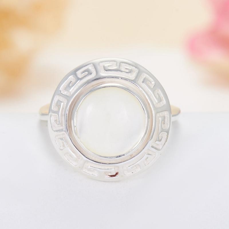 Кольцо перламутр  (серебро 925 пр.)  размер 19