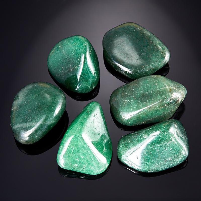 Галтовка Авантюрин зеленый тёмный Зимбабве (2-2,5 см) 1 шт