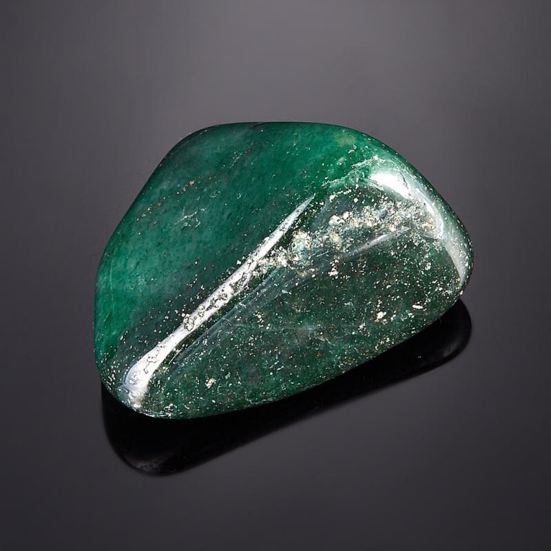 Галтовка Авантюрин зеленый тёмный Зимбабве (2,5-3 см) 1 шт