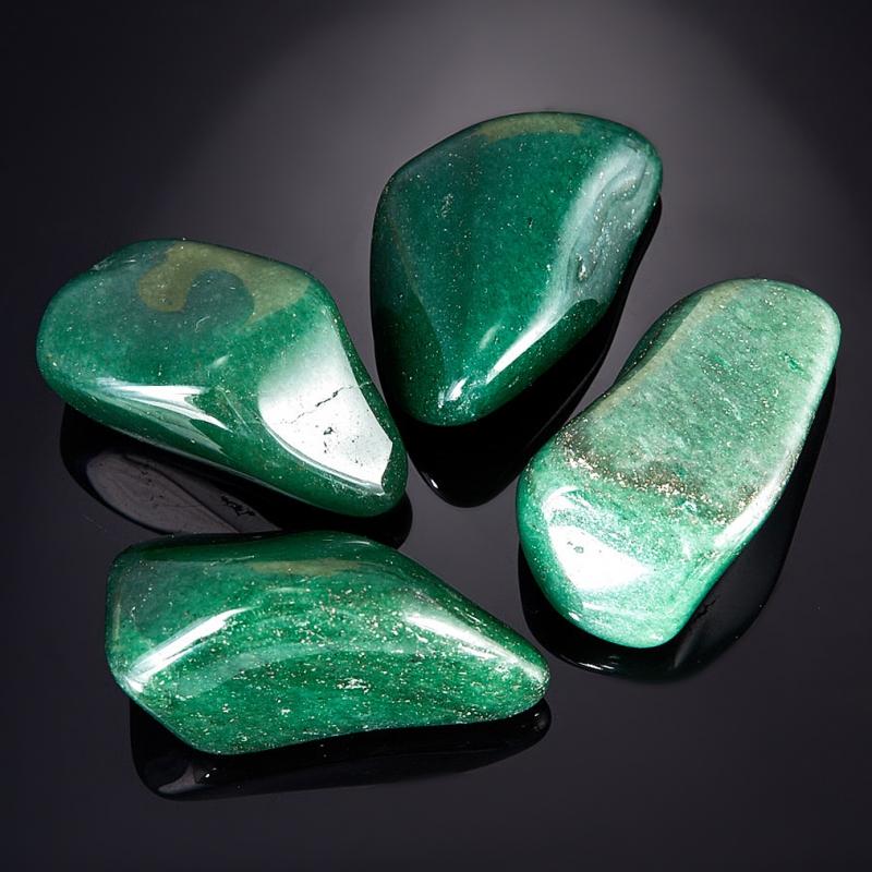 Галтовка Авантюрин зеленый тёмный Зимбабве (3-4 см) 1 шт