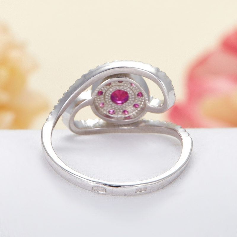 Кольцо рубин Мьянма огранка (серебро 925 пр.) размер 16,5