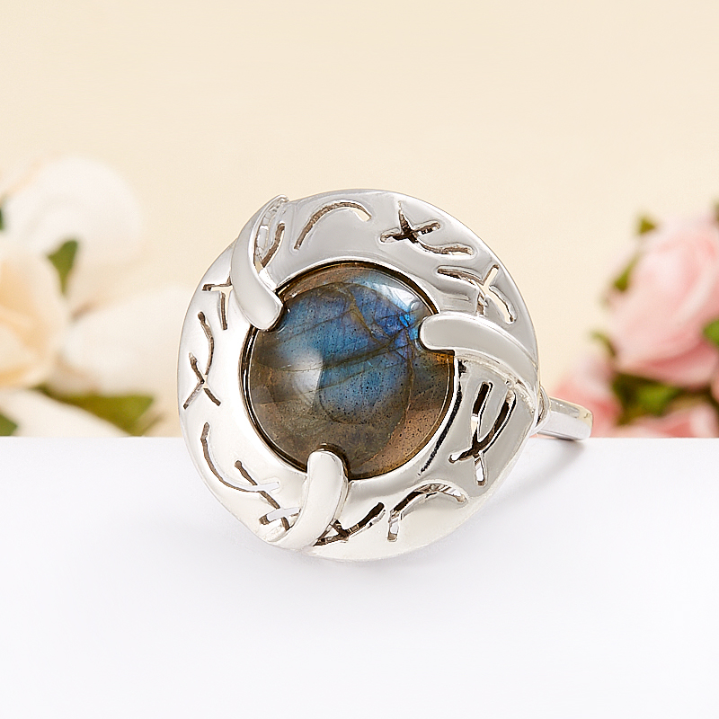 Кольцо лабрадор  (серебро 925 пр.)  размер 20 кольцо авантюрин зеленый серебро 925 пр размер 18