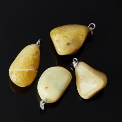 Кулон опал желтый Перу галтовка (биж. сплав) 1,5-3 см