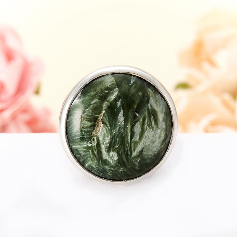 Кольцо клинохлор (серафинит)  (серебро 925 пр.)  размер 17,5