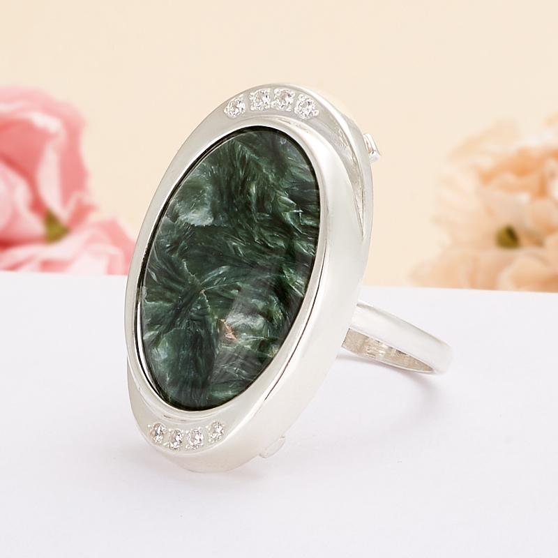 Кольцо клинохлор (серафинит)  (серебро 925 пр.)  размер 18,5