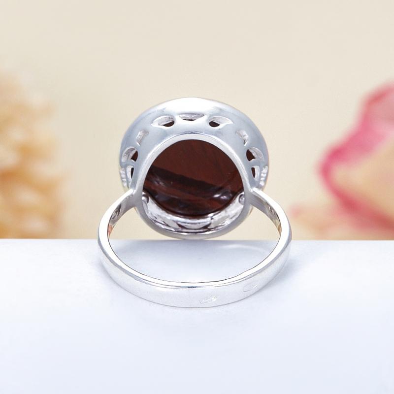 Кольцо бычий глаз ЮАР огранка (серебро 925 пр.) размер 18