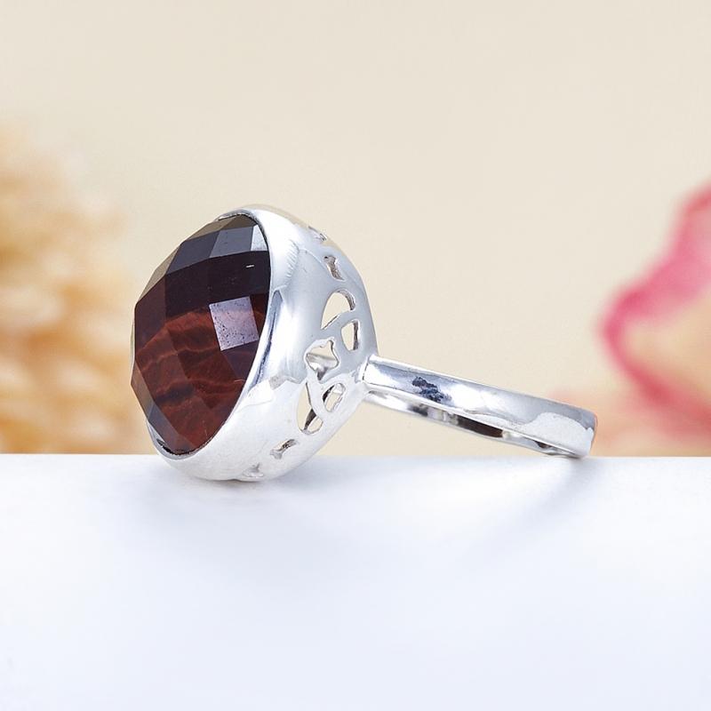 Кольцо бычий глаз ЮАР огранка (серебро 925 пр.) размер 21