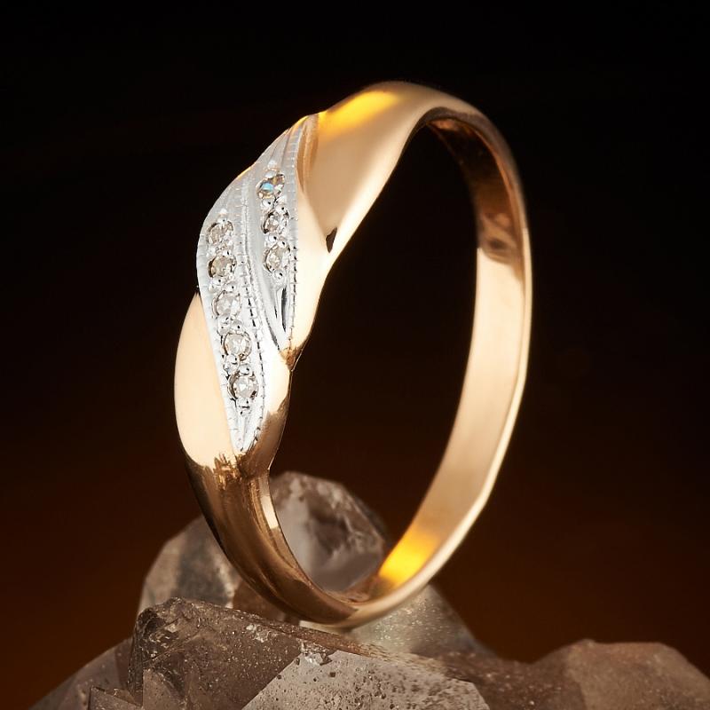 Кольцо бриллиант Россия огранка (золото 585 пр.) размер 20,5