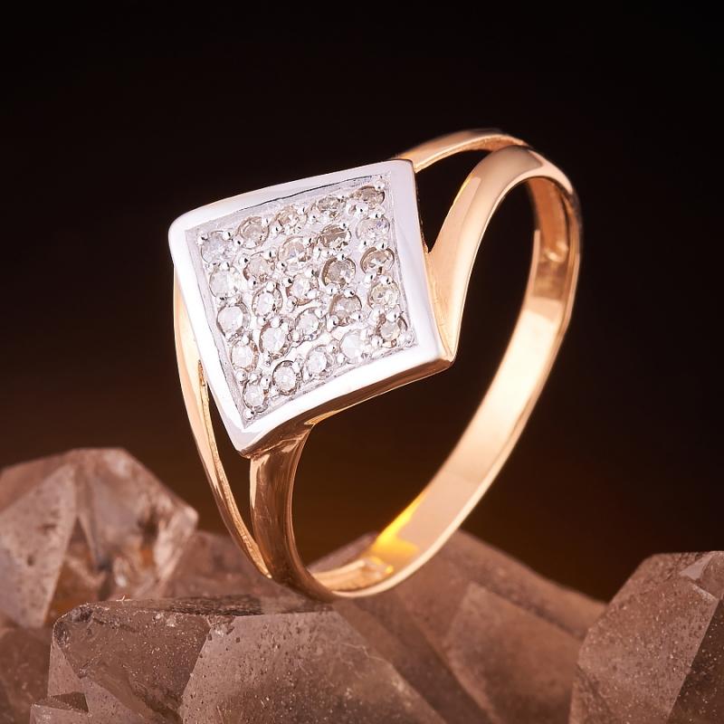 Кольцо бриллиант Россия огранка (золото 585 пр.) размер 19,5