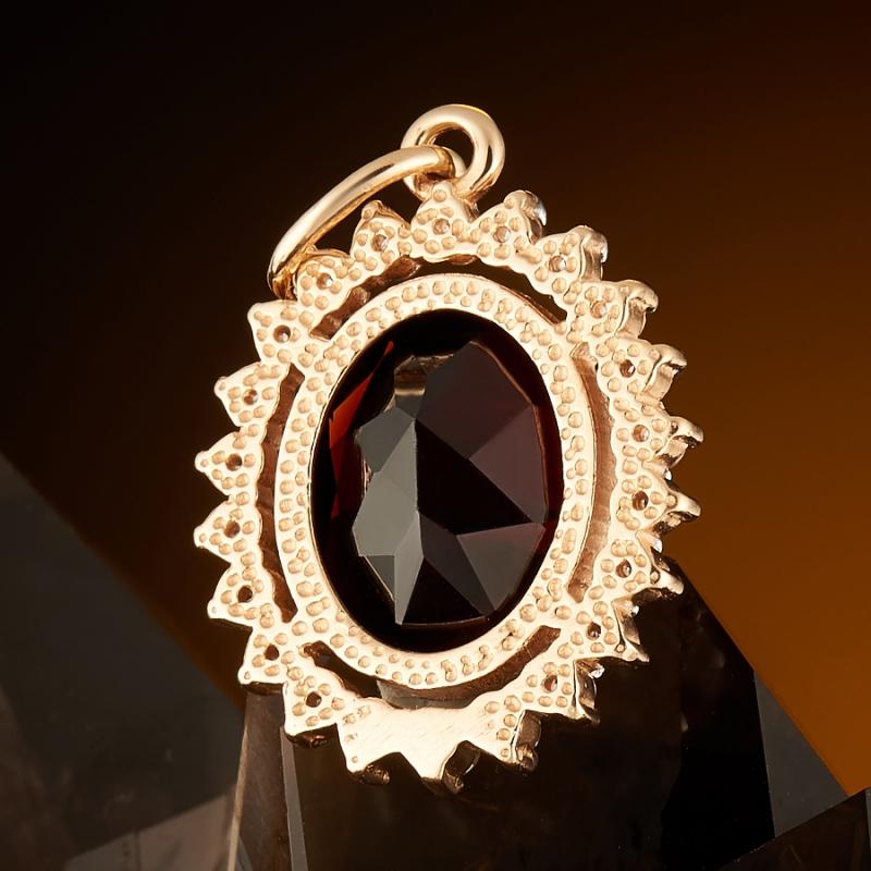 Кулон гранат Бразилия огранка (золото 585 пр.)