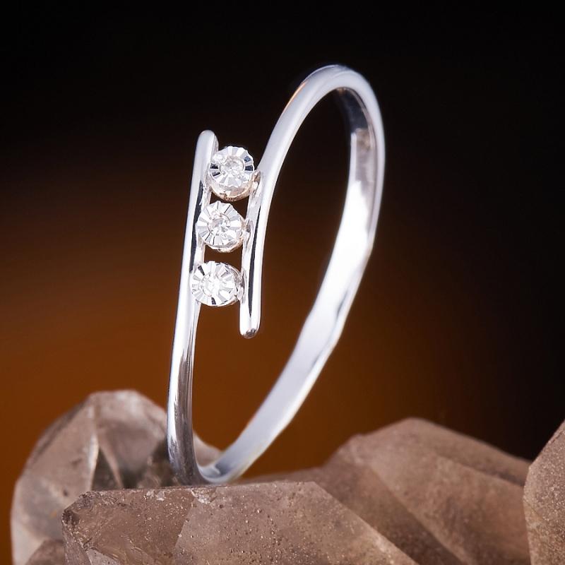 Кольцо бриллиант Россия огранка (золото 585 пр.) размер 18