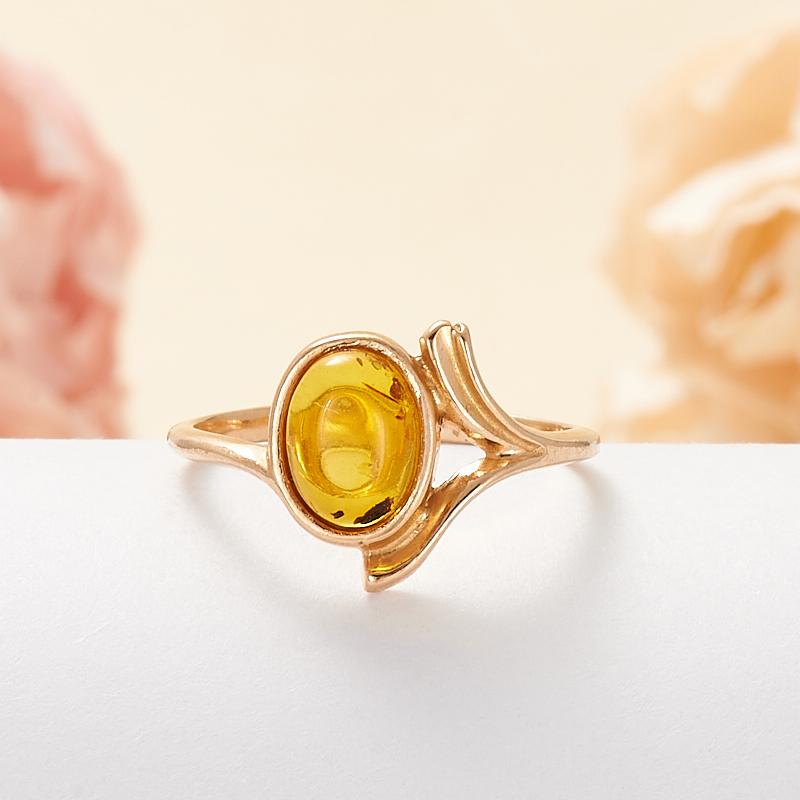 Кольцо янтарь  (серебро 925 пр., позолота) размер 16 кольцо янтарь серебро 925 пр позолота размер 16