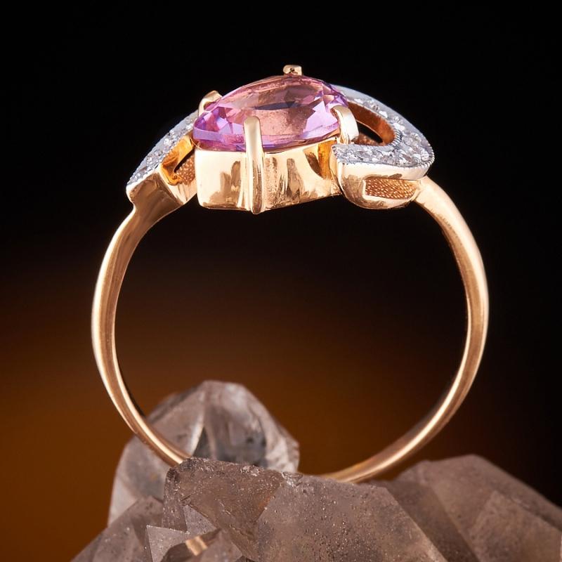 Кольцо аметист Бразилия огранка (золото 585 пр.) размер 21