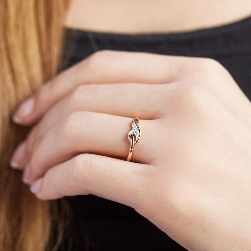 Кольцо бриллиант Россия огранка (золото 585 пр.) размер 19