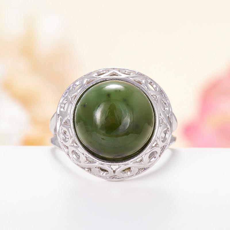 Кольцо нефрит  (серебро 925 пр.) размер 17,5