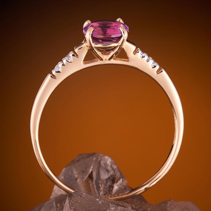 Кольцо аметист Бразилия огранка (золото 585 пр.) размер 22