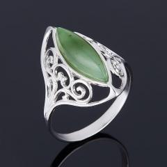 Кольцо нефрит Россия (серебро 925 пр.) размер 19,5