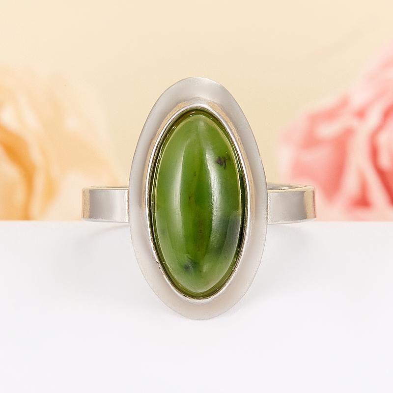 Кольцо нефрит  (серебро 925 пр.) размер 16,5