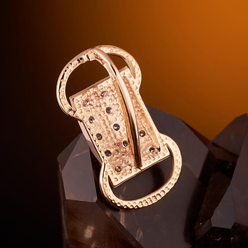 Кулон бриллиант Россия огранка (золото 585 пр.)