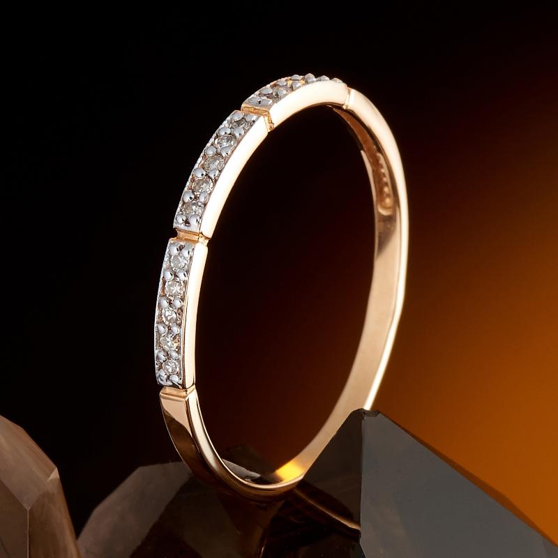 Кольцо бриллиант Россия огранка (золото 585 пр.) размер 21,5