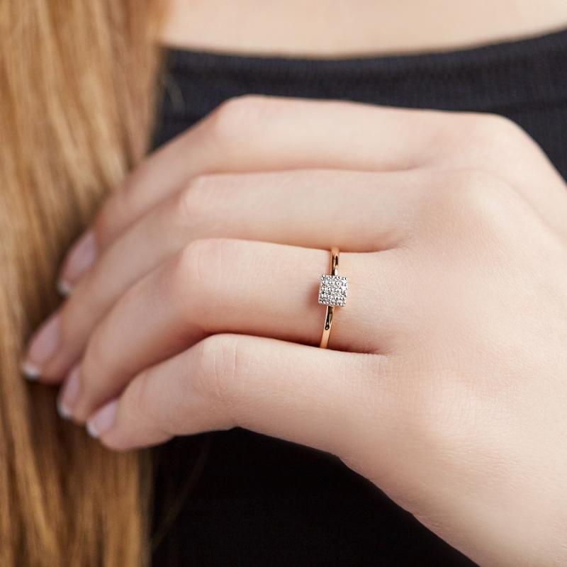 Кольцо бриллиант Россия огранка (золото 585 пр.) размер 21